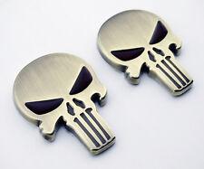 Skull Emblem Badge Decal Harley Motorcycle Tank Dyna Sportster Fatboy Softail 2X