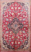 Vintage Traditional Floral Kashmar Area Rug RED Hand-Knotted Oriental Carpet 3x6