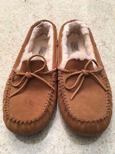 Men's UGG Chestnut Suede Moccasin Slippers (10)