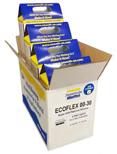 1 CASE 4 KITS Smooth On Ecoflex 30 Platinum Cure Silicone - 1 gallon total