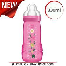 MAM Baby Bottle│Baby/Kid's Silk Teat Feeding BPA Free Bottle│330ml│Pink