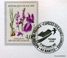 ORCHIS DES MARAIS  FRANCE Yt 2768 OBLITERATION 1er JOUR NOTICE PHILATELIQUE