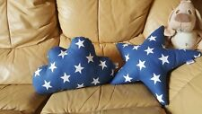 Cloud+Star Shaped 2 Pillows Cushion art Decorative Childrens Kids Nursery Pillow