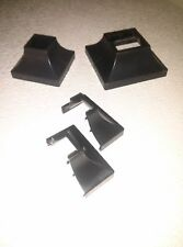 """HAND RAILS PLASTIC SHOES 2 pk  SNAP ON 1"""" FEET  RAILING POST covers for 1"""" posts"""