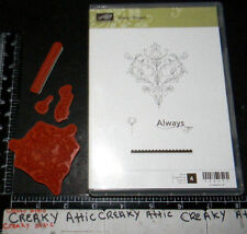 STAMPIN UP ALWAYS ELEGANT 4 CLING RUBBER STAMPS SCALLOPED