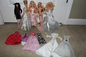 Lot Barbie Model Muse Dolls Dresses Gowns Clothing Princess Blonde Hair Blue Eye
