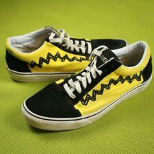 Vans Peanuts Shoes Sneakers Good Grief Charlie Brown Yellwo Black Mens Sz 11.5