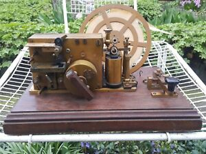 ANTIQUE SIEMENS AND HALSKE BERLIN ALTER TELEGRAPH REGISTER KEY ON BOARD KOB RARE