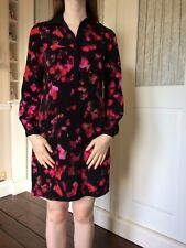 Marc New York Multi Pink Red Black Floral Collared Dress Size 10 BNNT