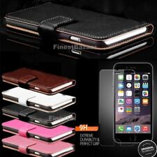 Genuine Leather Magnetic Flip Wallet Case Cover For Apple iPhone 8 7 Plus 6S 5S