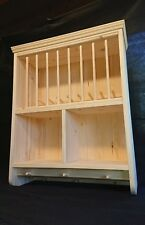 The Burscough..Traditional Pine Plate Rack **SEALED JOINTS & FULLY BACKED!!**