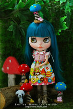 BHC FN642 Mushroom Mushroom dress set (Blue) for Kenner Blythe doll outfit