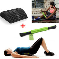 MSG Fitness Lower Back Pain Relief Massage Mat and Gym Leg Muscle Foam Roller