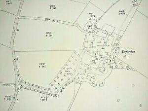 Old Antique Ordnance Map 1920 Anglesey XXII.12 Llanidan & Brynsiencyn ...