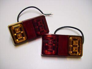 2 x  LED oblong Trailer / Lighting Board / Caravan 12 volt 3 Function Lights