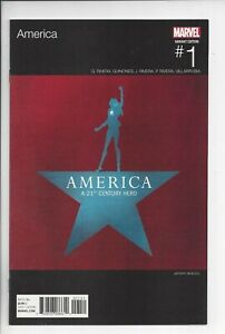 AMERICA #1 NM (9.4)HIP HOP VARIANT UNREAD COPY HAMILTON HOMAGE