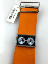 Orologio BENETTON WATCH DUAL TIME  DONNA VERO VINTAGE PELLE NEW OLD STOCK