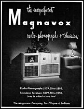 1949 Magnavox television radio phonograph Ft Wayne vintage photo Print Ad adL40