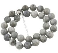 LARGE 12 mm LABRADORITE BEAD Necklace with 925 Silver extender 18+2 #L10