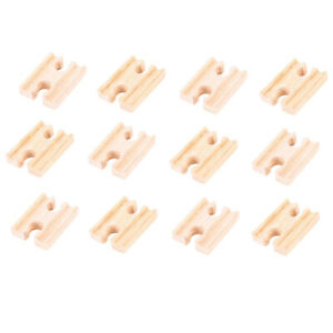 Bigjigs Rail Wooden Mini Track Female/Female (Pack of 12) Expansion Pack