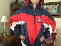 VINTAGE CLEVELAND INDIANS CHIEF WAHOO WINTER COAT-XL