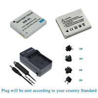 2 Battery +Charger for Canon PowerShot SX170 IS SX500 IS SX240 HS SX260 SX270 HS