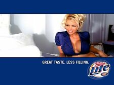 Miller Lite Beer Pamela Anderson  Refrigerator / Tool Box Magnet Man Cave