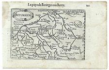 Carte ancienne ATLAS LANGENES old map 1609 BERRY Pays de Bourges Vierzon 111