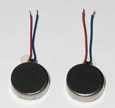 2 X Vibrator Flat Micro Motor - 1 to 3.6 VDC - Cellphones Beepers Mini Vibrators