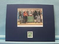 The Inauguration of George Washington as President honored by his own stamp