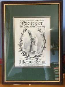 1880s WG Grace CRICKET the song of the centuries a Maxwell collectors edition