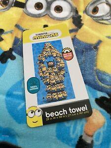 "DESPICABLE ME *Minions*  28 x58"" Blue Velour Bath/ Beach Towel Swim Fun"