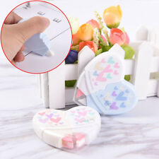 2X/set Love Heart Correction Tape Material Stationery Office School Supplies UK*