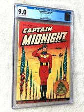 Captain Midnight #65 CGC 9.0 Fawcett July 1948 off-white to white pages