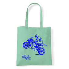 Art T-shirt, Borsa shoulder Valentino Rossi Firma, Menta, Shopper, Mare
