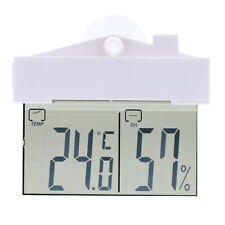 Digital Window Kitchen Thermometer Hygrometer In/Out Weather Station Suction Cup