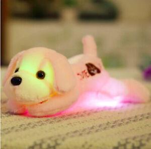 Dog Light Up Pillow Animals Shape LED Pillows Soft Cushion Throw Pillows 30cm