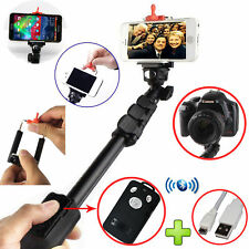 Heavy Duty Monopod Selfie Stick Telescopic Bluetooth Remote iPhone 6 5S 4S 6Plus