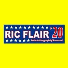"""nature Boy Ric Flair for President"" NWA WCW WWF WWE Bumper Sticker Funny"