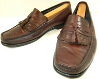 Mens Florsheim KiltieTassel Loafers Brown Leather Moc Toe US 8.5 D Dress Shoes