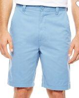 St John's Bay Men's Flat Front Shorts White/Blue/Indigo/Khaki/Stone NWT