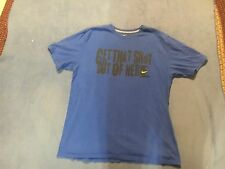 Nike Men's Blue & Black & Yellow Short Sleeve Shirt.  Size XL.