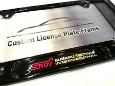 License Plate Frame for STI Gloss Black Subaru Impreza WRX BRZ Legacy Forester