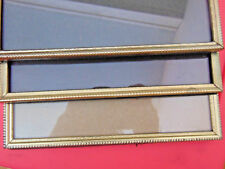 "Vintage 3 Metal 8""X10"" Gold Picture Frames All Alike-Glass-Black & White Photos"