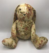 "Handmade Lop Eared Bunny Stuffed Animal Floral Print 15"""