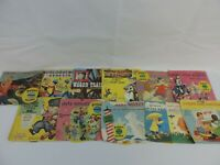 11 Vintage Read Along Book and Record LOT Disney Little Golden PETER PAN