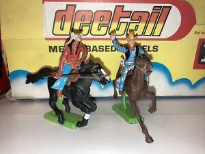 britains deetail toy soldiers 1971 Cowboy And Amercan Indian