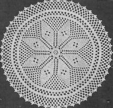Vintage Crochet Centerpiece Doily #61 PATTERN ONLY