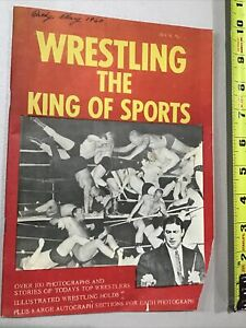 1959-1960 Wrestling King Of Sports Magazine Program Fritz Von Erich Back Cover