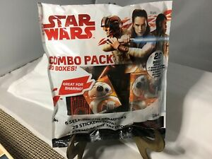 STAR WARS COMBO PACK 6 SEFF-INKING STAMPERS 28 STICKERS 28 TATTOOS DISNEY PARTY